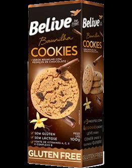 Belive – Cookies sabor baunilha com pedaços de chocolate