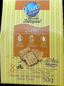 Pure – Biscoito Salgado Sabor Queijo